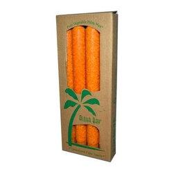 Aloha Bay Palm Tapers Orange - 4 Candles - Aloha Bay Palm Tapers Orange Description: