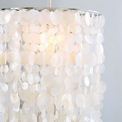 """Long Hanging Capiz Pendant Lamp 