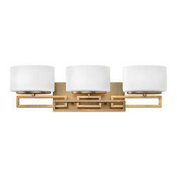 Hinkley Lighting - Hinkley Lighting 5103BR Lanza Transitional Bathroom / Vanity Light - Lanza makes a chic statement with its strong, rectangular metal work. This contemporary style features geometric detailing with a sophisticated, modern appeal.