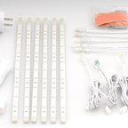LED Bar Lighting - 6 LED Strip Light Kit - Cool White - Kit Includes: