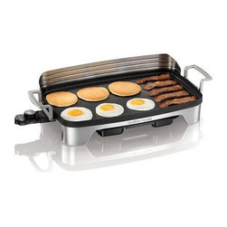 Hamilton Beach - Hamilton Beach - Premiere Cookware Electric G - 220 sq. inch nonstick cooking surface. Perfect for family gatherings. Durable die-cast pan and handles. Brushed stainless steel base. Removable stainless steel backsplash. Temperature control adjusts from 200 to 400 degrees F
