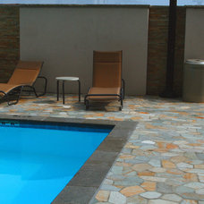 Contemporary Pool by Realstone Systems