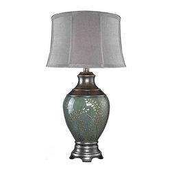 Dimond Lighting - Dimond Lighting D2056 Westvale Hand Painted Table Lamp - Dimond Lighting D2056 Westvale Hand Painted Classic/Traditional Table Lamp