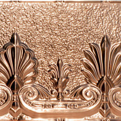 Decorative Ceiling Tiles - Acantus Leaf - Copper Backsplash Tile - #2432 - DecorativeCeilingTiles offers a great selection of backsplashes. Use them in the kitchen, by your grill or anywhere else you'd like to feature an elegant way to protect your walls and show off your home.