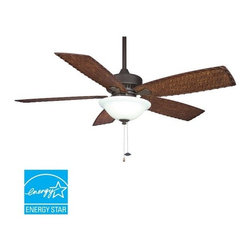 """Fanimation - Fanimation FP8011 Cancun 52"""" 5 Blade Ceiling Fan - Blades & Light Kit Included - Included Components:"""