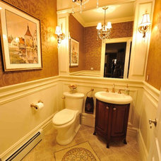 Traditional Powder Room by Lillian C Morea Interiors, LLC