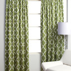 Mimosa Panels - Dressing up a window with a pair of simple drapery panels can do wonders for a space! The pattern and color of this drapery panel will instantly draw your eye to the window and create a lovely focal point in any room.