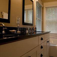 Craftsman Bathroom by 2SL Design Build Inc