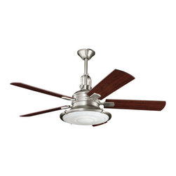 "Kichler - Kichler 300020AP 52"" Indoor Ceiling Fan 5 Blades - Remote, Light Kit and - Kichler 300020 Kittery Point Ceiling Fan"