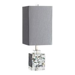 Cyan Design - Johor Table Lamp-05568 - Johor table lamp - silver - grey - smoke