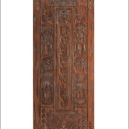 AAW Inc. - Mayan Inspired Entry Door Model # 36 Mayan - This door is a part of our International Collection.  The International doors take inspiration from architecture around the world.  They are hand carved my master carvers and add a wow factor to any home.