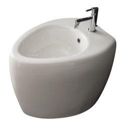 Scarabeo - Round Ceramic Floor Standing Bidet - A luxury piece.