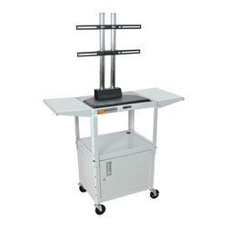 """Luxor - Luxor Flat Panel Cart - AVJ42CDL-LCD-LG - The Luxor AVJ42-LCD series are excellent multipurpose AV/utility carts. This unit comes with a LCD mount that holds up to a 42"""" flat panel display"""