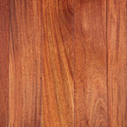 Exotic Wood Flooring - There is a fair degree of color variation between boards of Santos Mahogany, ranging from a lighter golden brown to a darker purplish red or burgundy. The color tends to turn more red/purple with age. Quartersawn sections can show a striped or ribbon pattern.