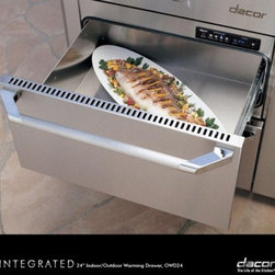 """Dacor - OWD24 Renaissance 24"""" Electric Warming Drawer With 1.36 Cu. Ft. Capacity  4 Time - Dacors Warming Drawer is approved for outdoor use Installed with our optional stainless steel accessory panel integrate this warming drawer conveniently and easily into your outdoor kitchen along with your Dacor 52 or 36 Outdoor Grill to keep your gr..."""