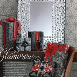 """Surface Materials, Inc. - This glamorous wallcoving is called """"Starbright"""" in steel -- manufactured by Thibaut and available in the Surface Materials, Inc. showroom!"""