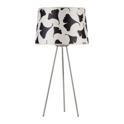 Weegee Medium Table Lamp, Black Ginkgo