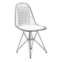 Modway - Tower Dining Side Chair in White - Wonderfully minimalist and playful in design, the Wire Tower Side Chair is exemplary of the Modern Classic style. Great for kitchen or living room, this piece is sure to draw the eye. This item is a high quality reproduction of the original.