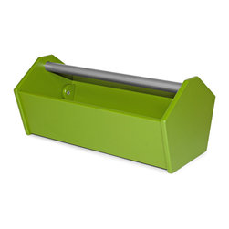 Loll Designs - Loll Designs Leaf Green Garden Tote Toolbox - A simple caddy in a classic toolbox style, this open leafy green box is perfect for carrying around your garden tools or using as an eclectic modern planter in your indoor or outdoor space. The angled, hexagonal shape of the sides add to its timeless style, while the use of 100% recycled plastic brings an eco-friendly element to this piece. As a member of the 1% for the planet organization, Loll Design donates 1% of its gross sales to a worldwide network of environmental organizations. Crafted from recycled plasticRust-proof handleDurable and weather-resistant for outdoor useEasy assemblyMade in the USAShips in 6 weeks