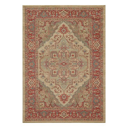 "Momeni - Momeni Ghazni GZ-05 (Beige) 9'3"" x 12'6"" Rug - This Machine Made rug would make a great addition to any room in the house. The plush feel and durability of this rug will make it a must for your home. Free Shipping - Quick Delivery - Satisfaction Guaranteed"