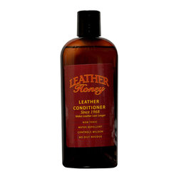 Leather Honey - Leather Honey Leather Conditioner, Softener, Protector, Jackets, Boots 8 oz - Leather Honey is a leather conditioner that softens, moisturizes and promotes flexibility leaving your leather feeling and looking beautiful! It deeply penetrates all types of leather to protect new leather and rejuvenate old leather. Leather Honey is a water-repellent, non-toxic, non-solvent that isn't sticky, has no odor and does not contain silicone. We use it on all conventional leathers. It can be used on some exotic skins, but be sure to test on a small inconspicuous area first. Free standard shipping in the US included.
