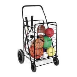 Whitmor - Deluxe Rolling Utility Cart Black - Whitmor Deluxe Rolling Utility Cart Black