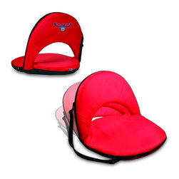 Picnic Time - Atlanta Hawks Oniva Seat Recreational Reclining Seat in Red - When you need a recreational reclining seat that's lightweight and portable, the Oniva Seat is for you. It has an adjustable shoulder strap and six adjustable positions for reclining. The seat cover is made of polyester, the frame is steel, and the seat is cushioned with high-density PU foam, which provides hours of comfortable sitting. The bottom of the seat is black so as not to soil easily. The Oniva Seat is great for the beach, the park, gaming and boating.; Decoration: Digital Print