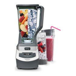 Ninja - Ninja BL660 Professional-Style Blender with Single Serve Multicolor - 6223565320 - Shop for Blenders from Hayneedle.com! Whether creating delicious frozen drinks for a party or a quick smoothie for one before your dash out the door the Ninja BL660 Professional Style Blender with Single Serve is ready with 1 000 watts of power to crush ice and blend fruits and veggies with ease. The built-in single serve function makes a shake for one in a convenient 72 ounce carafe and it also features six blade Ninja technology a sleek design touch operation and dishwasher-safe parts. About NinjaOne of several housecare brands developed by Euro-Pro Operating LLC Ninja is a leader in innovative cleaning solutions and small household appliances with the goal of giving today's busy consumer better and more efficient products that fit their active lifestyle. By providing appliances that are not only highly functional but also innovative Euro-Pro has rapidly carved out a significant market share in the housewares industry. From cutting-edge chemical-free steam mops to state of the art kitchen appliances Euro-Pro products bring relief to the daily chores of consumers contributing to the improvement of their quality of life.