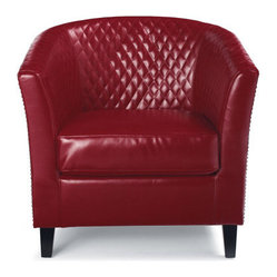 Elliot Quilted Club Chair Armchair - Grandin Road