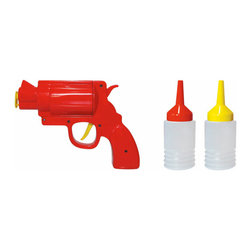 Condiment Gun - I'm a firm believer that everyone should play with their food. While this looks like a mess waiting to happen, you know you'll be laughing the whole way through it.