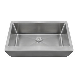 MR Direct - MR Direct 405 Single Bowl Stainless Steel Apron Sink, Sink Only - Apron style sinks, especially stainless steel, are becoming a popular choice for today's kitchens. The 405 features a large single-bowl design. Our stainless steel apron sinks are constructed from high-quality, 16-gauge, 304 steel - 25% thicker than standard 18-gauge. Most models are made of one-piece construction which ensures the sturdiest kitchen sink available. The 405 is guaranteed not to rust or stain, is fully insulated, and has a sound dampening pad. All of our stainless steel sinks are backed by a limited lifetime warranty and come with a cardboard cutout template and mounting hardware.