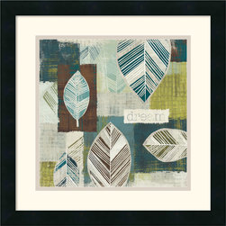 """Amanti Art - Be Leaves III Framed Print by Wild Apple Portfolio - """"Dream"""" - Have you decor declare what is really important to you with this minimalist motivational piece."""