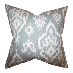 "The Pillow Collection - Baraka Ikat Pillow Gray - Bring out an eclectic twist to your home with this artsy accent pillow. This toss pillow features a unique ikat pattern in shades of gray and white. Decorate your sofa, bed or seat with this plush decor piece. Bring in solids and other patterns to pair with this 18"" pillow. Made of 100% high-quality cotton fabric."