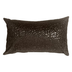 Pillow Decor - Pillow Decor - Pebbles in Black 12 x 20 Faux Fur Throw Pillow - Bring style and fashion into your home with this beautiful and unique rectangular decorative accent pillow. This black pebble print throw pillow is both stylish and practical. The base of the pillow is a smooth black faux leather, whereas the pebble pattern is a raised black faux fur, giving it a soft fun texture.
