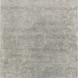 Surya - Surya Henna HEN-1001 (Moss, Gray) 8' x 11' Rug - The Surya Henna Collection features hand tufted rugs made with 50% Wool/30% Viscose/20% Cotton.