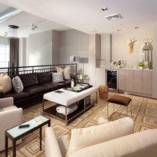Contemporary Living Room by Elizabeth Cb Marsh