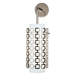 Robert Abbey - Jonathan Adler Parker Wall Sconce - Freshen up your living room by replacing your old, stodgy wall sconces with this one. The metal outer shade looks ultramodern.
