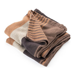 Brahms Mount - Brahms Mount Cotton Linen Throw - Color-soaked cotton meets natural linen. These throws we call day blankets draw on almost every color in our palette and boast durability and a sense of casual elegance.