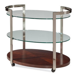 Bassett Mirror Company - Bassett Mirror Gordon Tea Cart - Gordon Tea Cart belongs to Contempo Collection by Bassett Mirror Company Gordon Tea Cart Kitchen Cart (1)
