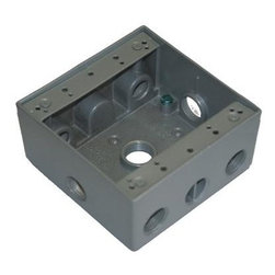 """Westgate - Westgate Two Gang Boxes, 7 x 1/2"""" Hubs - Two Gang Boxes 2-3/16†Deep"""