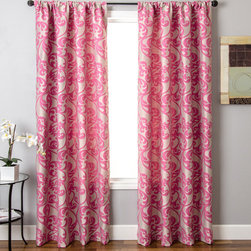Blindsgalore - Blindsgalore Signature Drapery Panel: Mod Vine Patterned Jacquard - The traditional scroll pattern gets a fresh new look in bright, contemporary colors with our Blindsgalore Mod Vine drapery panels.