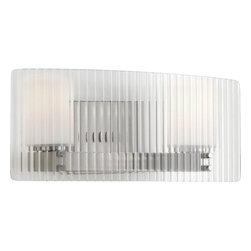 Progress Lighting - Progress Lighting P2030-WB Coupe Two Light Bathroom Vanity Light - Progress Lighting P2030-WB Coupe Bathroom Light / Wall Sconce