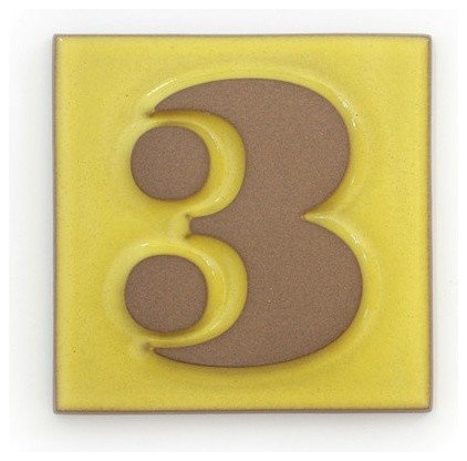 Contemporary House Numbers by Heath Ceramics
