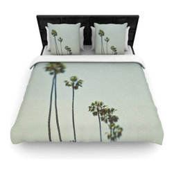 "Kess InHouse - Myan Soffia ""Timeless"" Palm Trees Fleece Duvet Cover (King, 104"" x 88"") - You can curate your bedroom and turn your down comforter, UP! You're about to dream and WAKE in color with this uber stylish focal point of your bedroom with this duvet cover! Crafted at the click of your mouse, this duvet cover is not only personal and inspiring but super soft. Created out of microfiber material that is delectable, our duvets are ultra comfortable and beyond soft. Get up on the right side of the bed, or the left, this duvet cover will look good from every angle."
