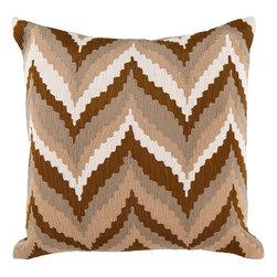Surya - Surya Brown Zig Zag Pillow -