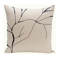 e by design - Branches Off-White and Black 18-Inch Cotton Decorative Pillow - - Decorate and personalize your home with coastal cotton pillows that embody color and style from e by design  - Fill Material: Synthetic down  - Closure: Concealed Zipper  - Care Instructions: Spot clean recommended  - Made in USA e by design - CPO-NR12-Original-18