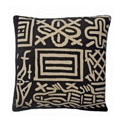 5 Surry Lane - Brown Kuba Geometric Pillow - Give your room a global vibe with this boldly printed pillow, which reverses to solid for those times when you'd like to keep the look simpler. Hidden zipper closure with a down/feather insert. Made in the USA.