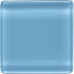 """Legacy Glass in Powder - Nothing says style and sophistication quite like colored glass tiles. Available in a multitude of colors, Legacy Glass boasts a rare look that is equally at home in both contemporary and Old World settings. From 1"""" x 1"""" squares to 2"""" x 4"""" brick joints, this stunning tile features a truly unique array of sizes and colors. And while at first glance, it may seem as if this tile is suited ideally for today's contemporary designs, don't be quick to discount its use in perhaps more unexpected applications."""