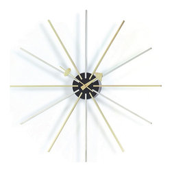 Vitra - Vitra Nelson Star Wall Clock - When every second counts for style, mount this impressive timepiece in your favorite setting. Designed by George Nelson and crafted of chrome and brass, it makes a striking statement in your modern decor.