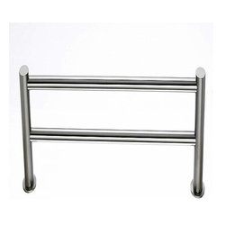 Top Knobs - Top Knobs Hopewell Bath 24 Inch Double Towel Rod Satin Nickel - Top Knobs Hopewell Bath 24 Inch Double Towel Rod Satin Nickel